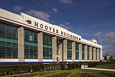 Exterior of the iconic art deco Hoover Building in London, UK which has been converted into apartments by Interrobang Architects and Webb Yates Engine... - ARC103563
