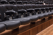 Rows of seating in the restored Purcell Room at the Queen Elizabeth Hall, Southbank Centre, London - ARC103606