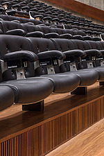 Rows of seating in the restored Purcell Room at the Queen Elizabeth Hall, Southbank Centre, London - ARC103607