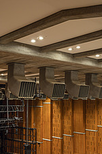 Air vents in the restored Purcell Room at the Queen Elizabeth Hall, Southbank Centre, London - ARC103610