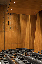 Rows of seating in the restored Purcell Room at the Queen Elizabeth Hall, Southbank Centre, London - ARC103617