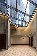 Foyer and skylight of the restored Queen Elizabeth Hall, Southbank Centre, London - ARC103640