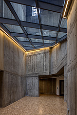 Foyer and skylight of the restored Queen Elizabeth Hall, Southbank Centre, London - ARC103643