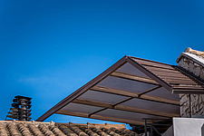Close up roof view of Kapsampeli residence in Selianitika in Achaea, Greece by architect Nikos Mourikis - ARC103977