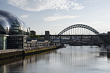 Along Newcastle upon Tyne and Gateshead Quayside, on a sunny day - ARC104119