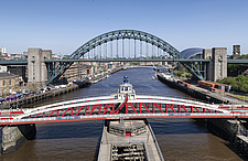 Newcastle upon Tyne and Gateshead Quayside on a sunny day - ARC104123