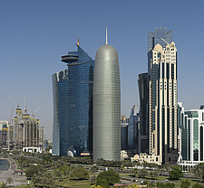 Doha Tower, Qatar and the west bay's skyline - ARC104124