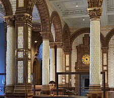Principal Hotel Manchester Grade II listed building, ceramic covered columns - 16904-90-1