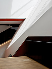 Abstract image of the stairs to The Sainsbury Gallery, V&A, London, UK, completed in 2017 - ARC104240