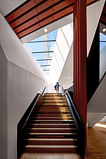 The staircase of The Sainsbury Gallery, V&A, London, UK, completed in 2017 - ARC104242