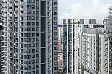Closeup of residential developments at Tanjong Pagar district, Singapore - ARC104558