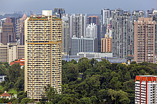 Pearl Bank Apartments & Singapore cityscape - ARC104561