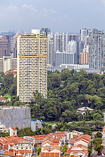 Pearl Bank Apartments & Singapore cityscape - ARC104562