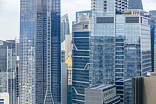 Aerial view of Singapore central business district, downtown, Raffles Place - ARC104576