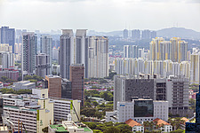 Cityscape view of residential buildings in Tiong Bahru district, Singapore - ARC104580