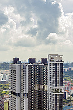 Cityscape view of residential buildings in Telok Blangah district, Singapore - ARC104586
