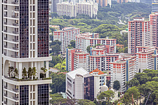 Cityscape view of residential buildings in Telok Blangah district, Singapore - ARC104588