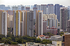 Cityscape view of residential buildings in Bukit Merah district, Singapore - ARC104591