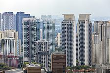 Cityscape view of residential buildings in Bukit Merah district, Singapore - ARC104596
