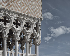Detail of the Gothic facade of the Doge's Palace in Venice, Veneto, Italy - ARC104790