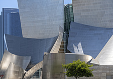 Exterior view of the Walt Disney Concert Hall, downtown Los Angeles, California, USA - ARC105362