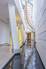 Lower level of the Fondation Louis Vuitton by Frank Gehry completed in 2014 - ARC105635