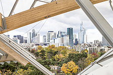 View of Paris skyscrapers from the top of the Fondation Louis Vuitton by Frank Gehry completed in 2014 - ARC105636