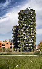 A day shot of Bosco Verticale, Porta Nuova, Milan, Italy - ARC105774