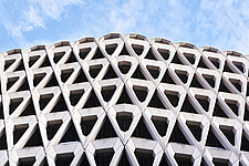 Exterior of Welbeck Street car park in central London, UK, built in 1970 for department store, Debenhams - ARC106616