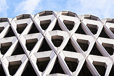 Exterior of Welbeck Street car park in central London, UK, built in 1970 for department store, Debenhams - ARC106617