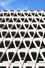 Exterior of Welbeck Street car park in central London, UK, built in 1970 for department store, Debenhams - ARC106621