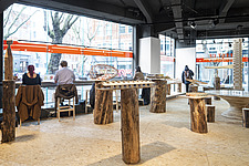Forest of Fabrication is an exhibition by the Stirling Prize-winning practice dRMM Architects at The Building Centre, London presenting engineered tim... - ARC106853
