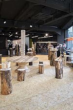 Forest of Fabrication is an exhibition by the Stirling Prize-winning practice dRMM Architects at The Building Centre, London presenting engineered tim... - ARC106855