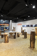Forest of Fabrication is an exhibition by the Stirling Prize-winning practice dRMM Architects at The Building Centre, London presenting engineered tim... - ARC106869