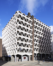 Exterior of Welbeck Street car park in central London, UK, built in 1970 for department store, Debenhams - ARC106872