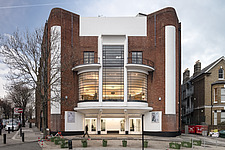 The Arch Climbing Wall, a former Art Deco- style cinema built in the 1930s, originally called Dominion, reused as climbing centre in Acton, London - ARC106878