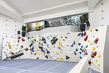 The Arch Climbing Wall, a former Art Deco- style cinema built in the 1930s, originally called Dominion, reused as climbing centre in Acton, London - ARC106889