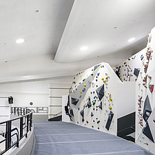 The Arch Climbing Wall, a former Art Deco- style cinema built in the 1930s, originally called Dominion, reused as climbing centre in Acton, London - ARC106890
