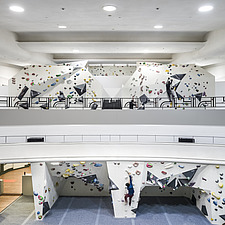 The Arch Climbing Wall, a former Art Deco- style cinema built in the 1930s, originally called Dominion, reused as climbing centre in Acton, London - ARC106891