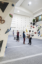 The Arch Climbing Wall, a former Art Deco- style cinema built in the 1930s, originally called Dominion, reused as climbing centre in Acton, London - ARC106892