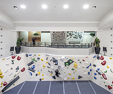 The Arch Climbing Wall, a former Art Deco- style cinema built in the 1930s, originally called Dominion, reused as climbing centre in Acton, London - ARC106893