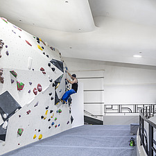 The Arch Climbing Wall, a former Art Deco- style cinema built in the 1930s, originally called Dominion, reused as climbing centre in Acton, London - ARC106895