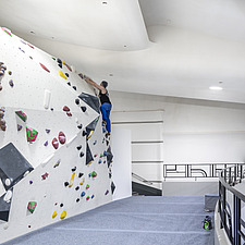 The Arch Climbing Wall, a former Art Deco- style cinema built in the 1930s, originally called Dominion, reused as climbing centre in Acton, London - ARC106896