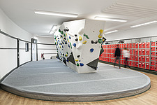 The Arch Climbing Wall, a former Art Deco- style cinema built in the 1930s, originally called Dominion, reused as climbing centre in Acton, London - ARC106881