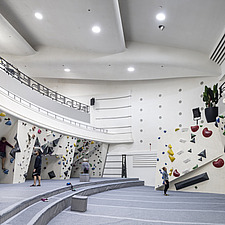 The Arch Climbing Wall, a former Art Deco- style cinema built in the 1930s, originally called Dominion, reused as climbing centre in Acton, London - ARC106882