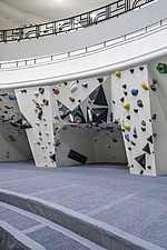 The Arch Climbing Wall, a former Art Deco- style cinema built in the 1930s, originally called Dominion, reused as climbing centre in Acton, London - ARC106883