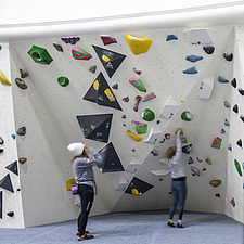 The Arch Climbing Wall, a former Art Deco- style cinema built in the 1930s, originally called Dominion, reused as climbing centre in Acton, London - ARC106884