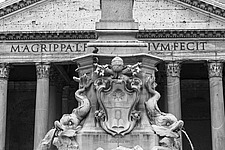Detail of the baroque Fountain of the Pantheon, Rome, Italy - ARC106976