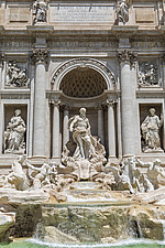 Neptune flanked by two Tritons, Trevi Fountain, Rome, Italy - ARC106977
