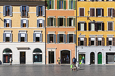 Shuttered facades in Piazza di Spagna, Rome, Italy - ARC106978